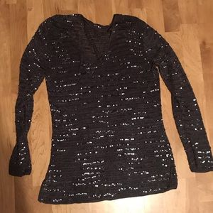 Sweaters - Sheer Sequin Top